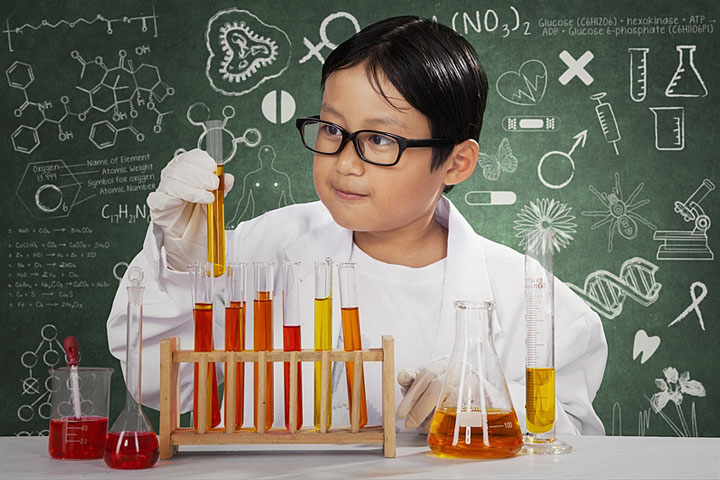 a young laboratory scientist
